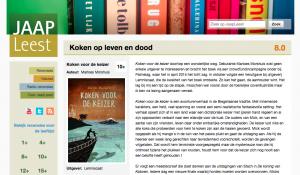 Een 8.0 op de website JaapLeest.nl: 'Dit avontuur smaakt naar meer'